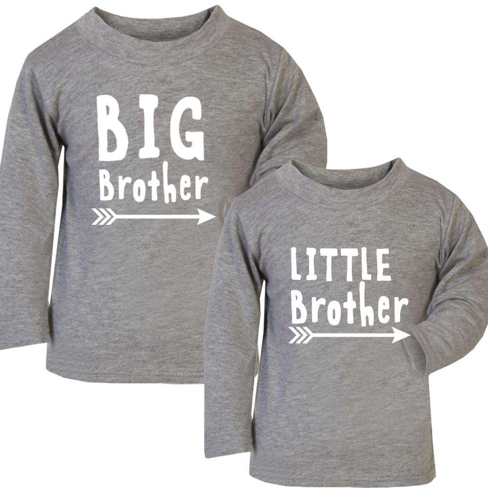 Brothers Matching Arrow Grey Long Tees (MRK X)