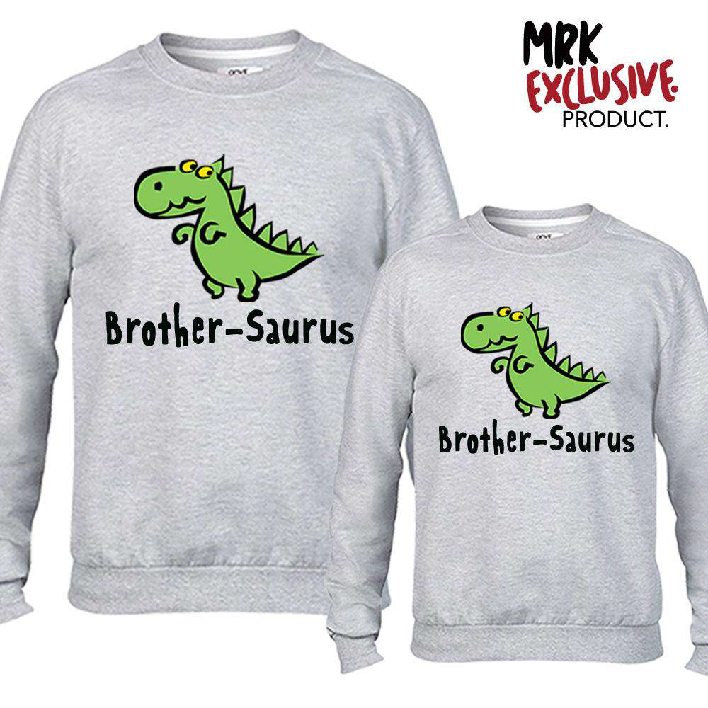Brother-Saurus Matching Grey Sweaters (MRK X)