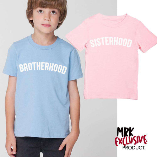 Brotherhood/Sisterhood Pastel Blue & Pink Matching Tees (1-13 Years) (MRK X)