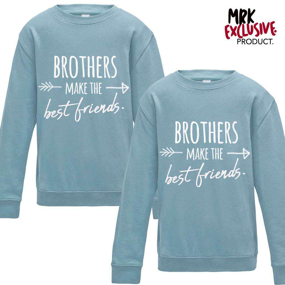 Brothers Make Best Friends Matching Pastel Blue Sweaters (MRK X)