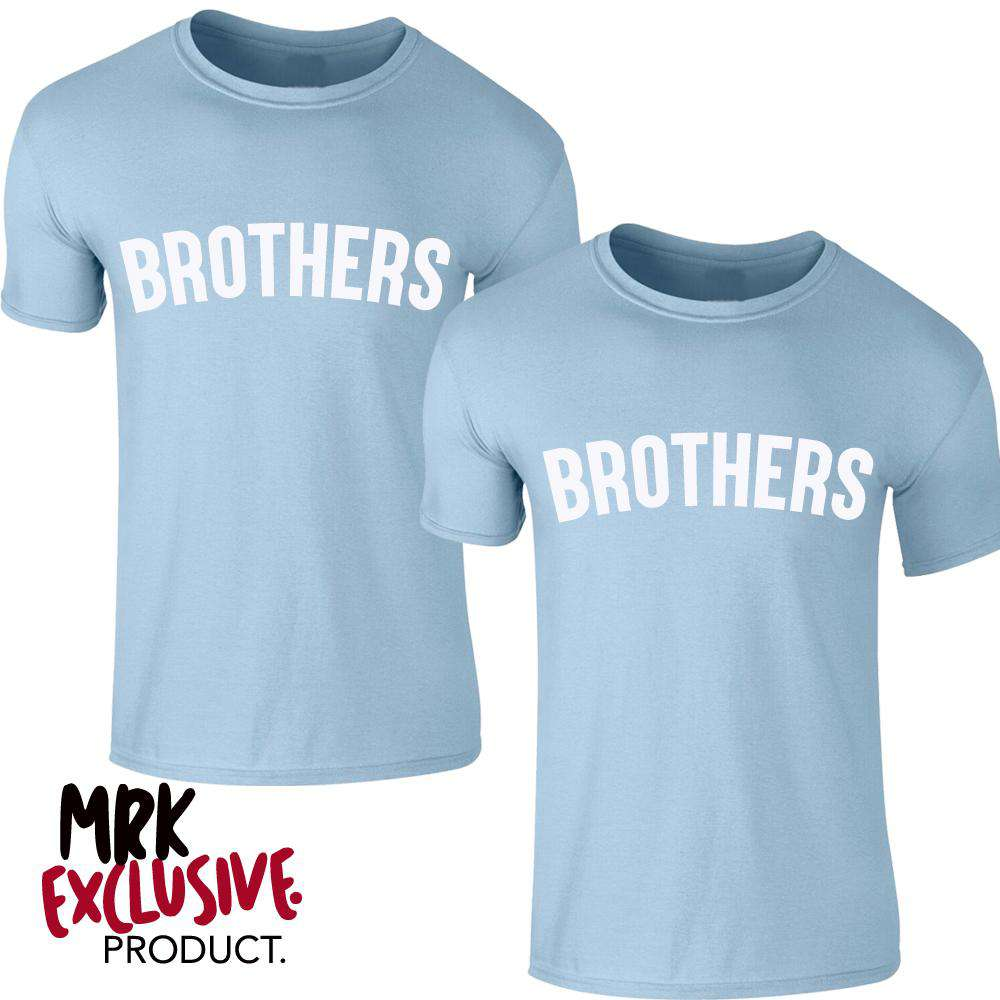 Brothers Pastel Matching Blue Tees (0-13 Years) (MRK X)