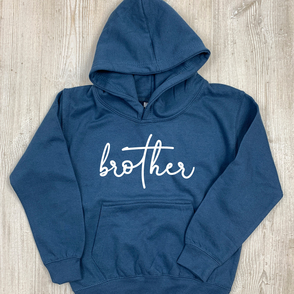 Brother/Sister Matching Script Hoodies (1-13 Years) (MRK X)