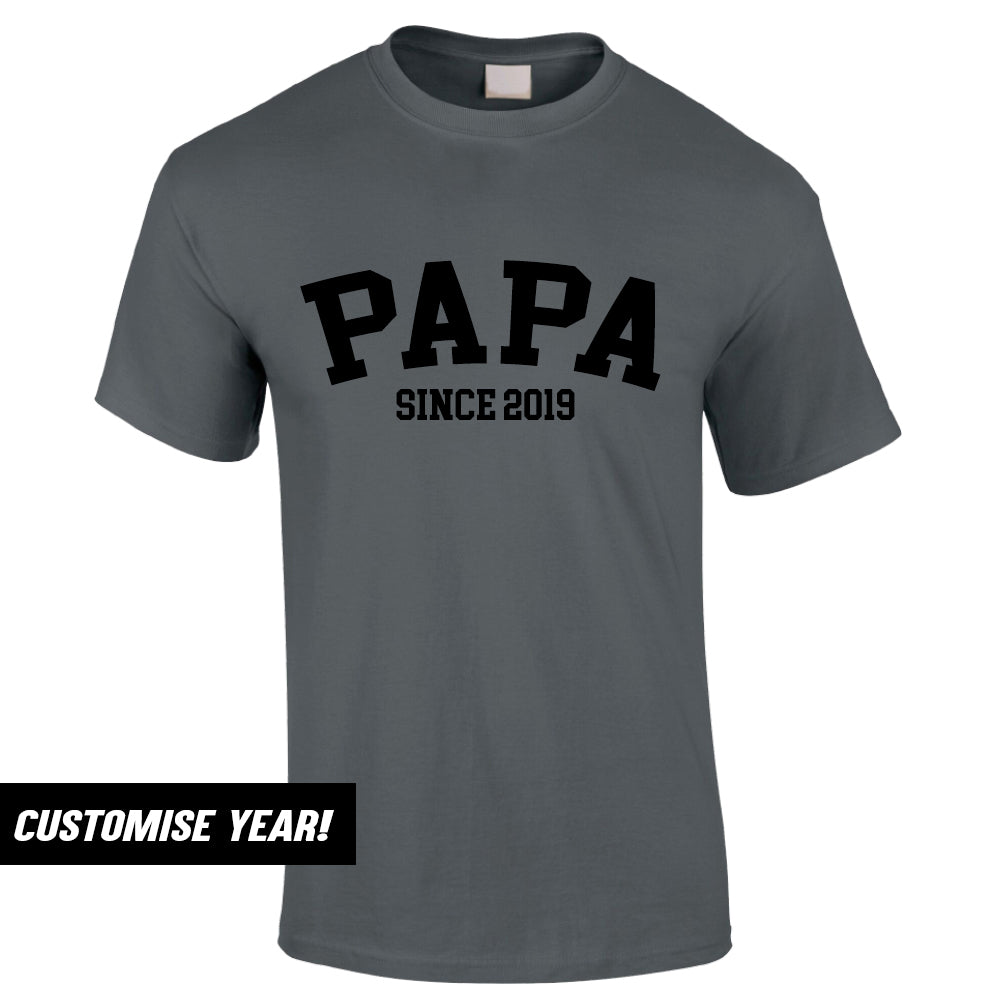 Personalised Papa Since T-Shirt (MRK X)