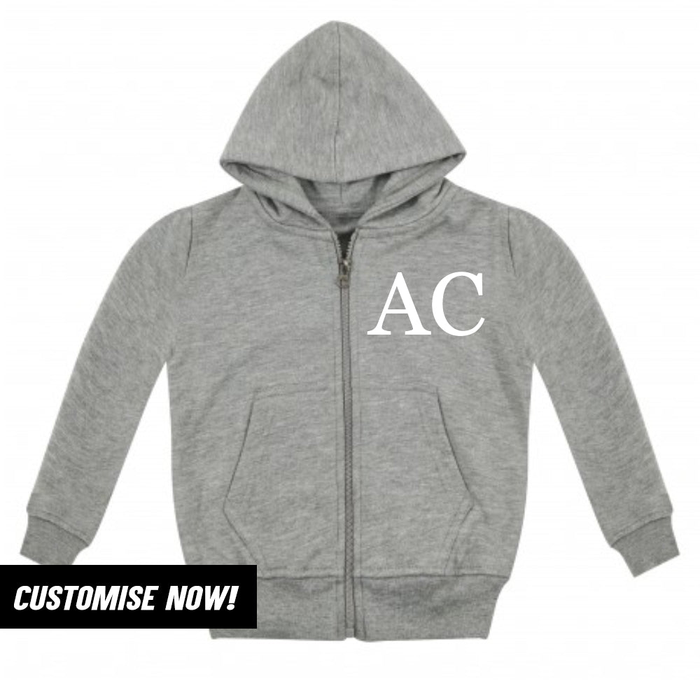 Personalised Brooklyn Zip-Hoodie Fleece Top (MRK X)