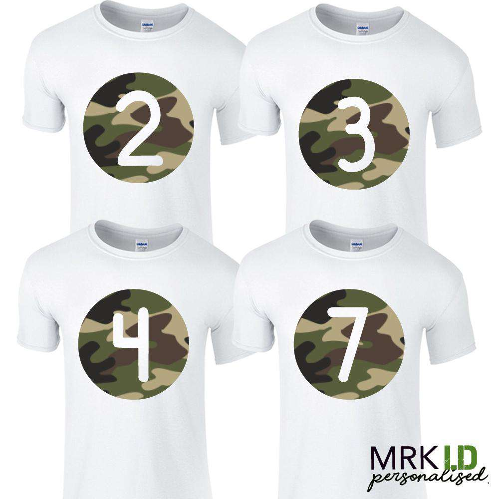 White/Camo Age Tees (1-13 Years) (MRK X)