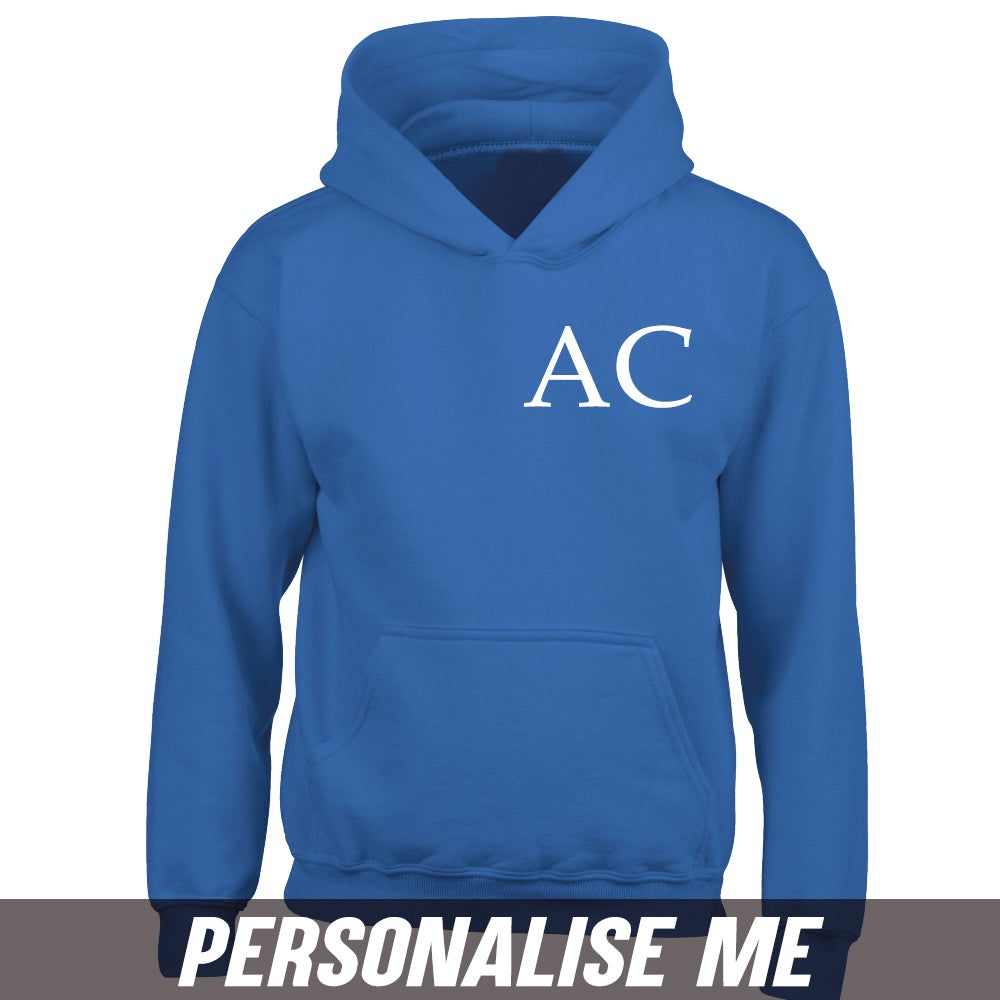 Personalised Initial Junior Hoodie 00 (MRK X)