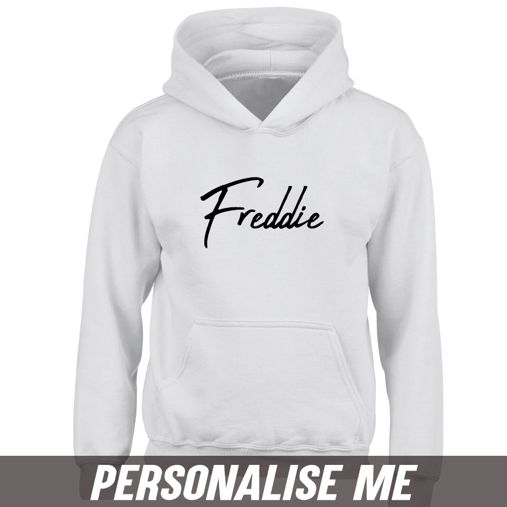 Personalised Script Name Junior Hoodie 00 (MRK X)