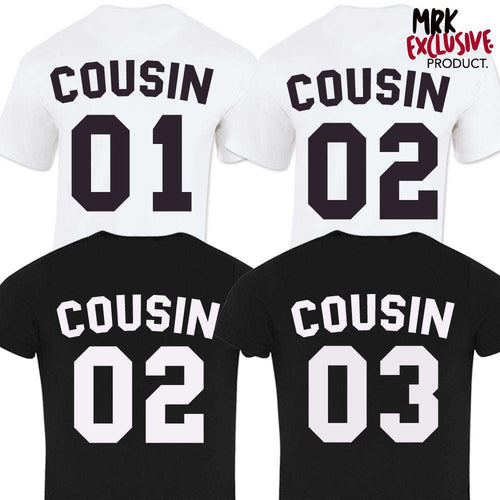 Cousin Squad Number Tees (MRK X)