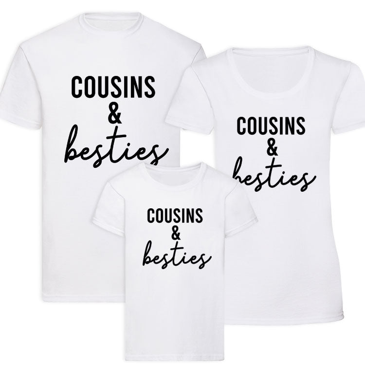 Cousins & Besties Matching Black Tees (MRK X)