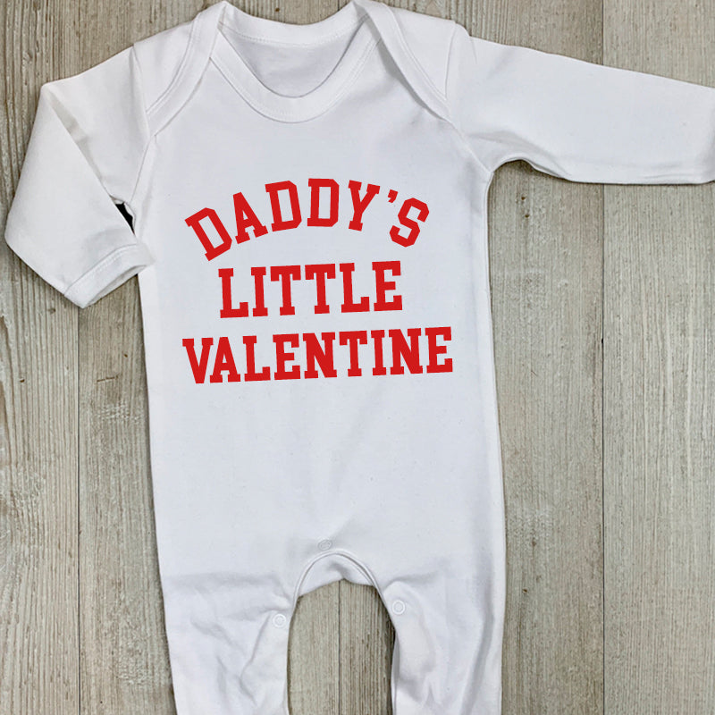 Daddy's Little Valentine College Rompersuit (MRK X)