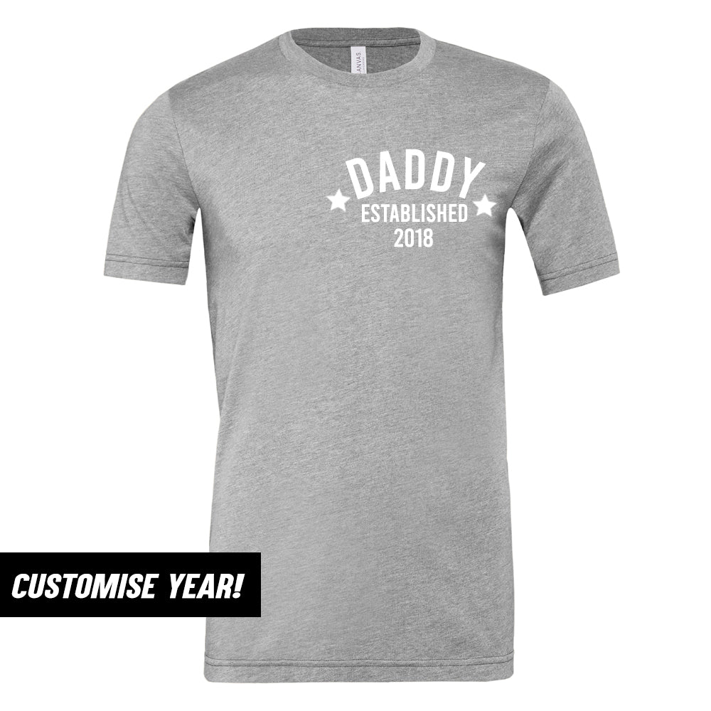 Personalised Daddy Star Established T-Shirt (MRK X)