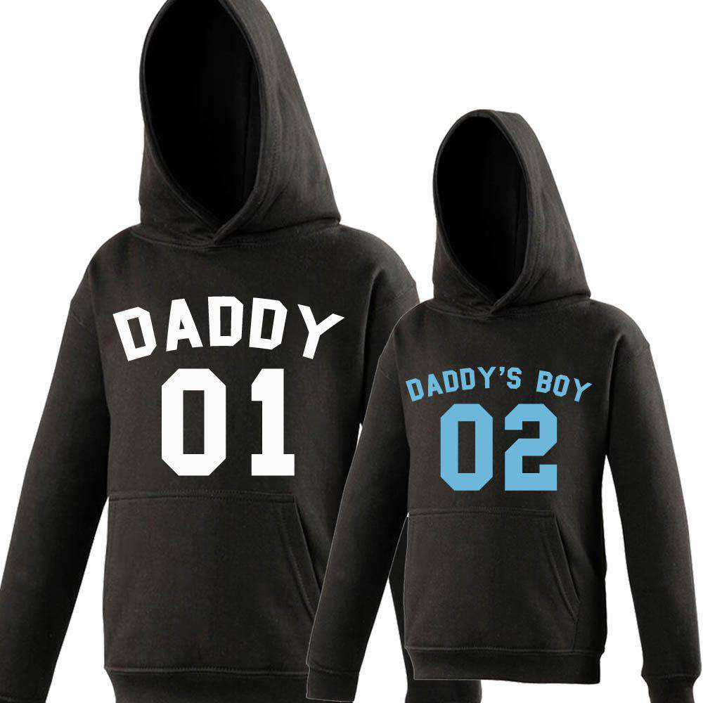 Daddy/Daddys Boy Dad & Kid Matching Hoodies (MRK X)