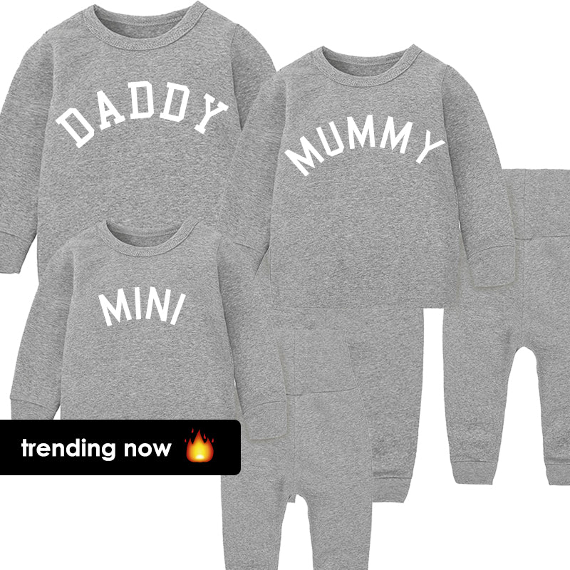 Daddy, Mummy & Mini College Lounge Sets Heather Grey (MRK X)