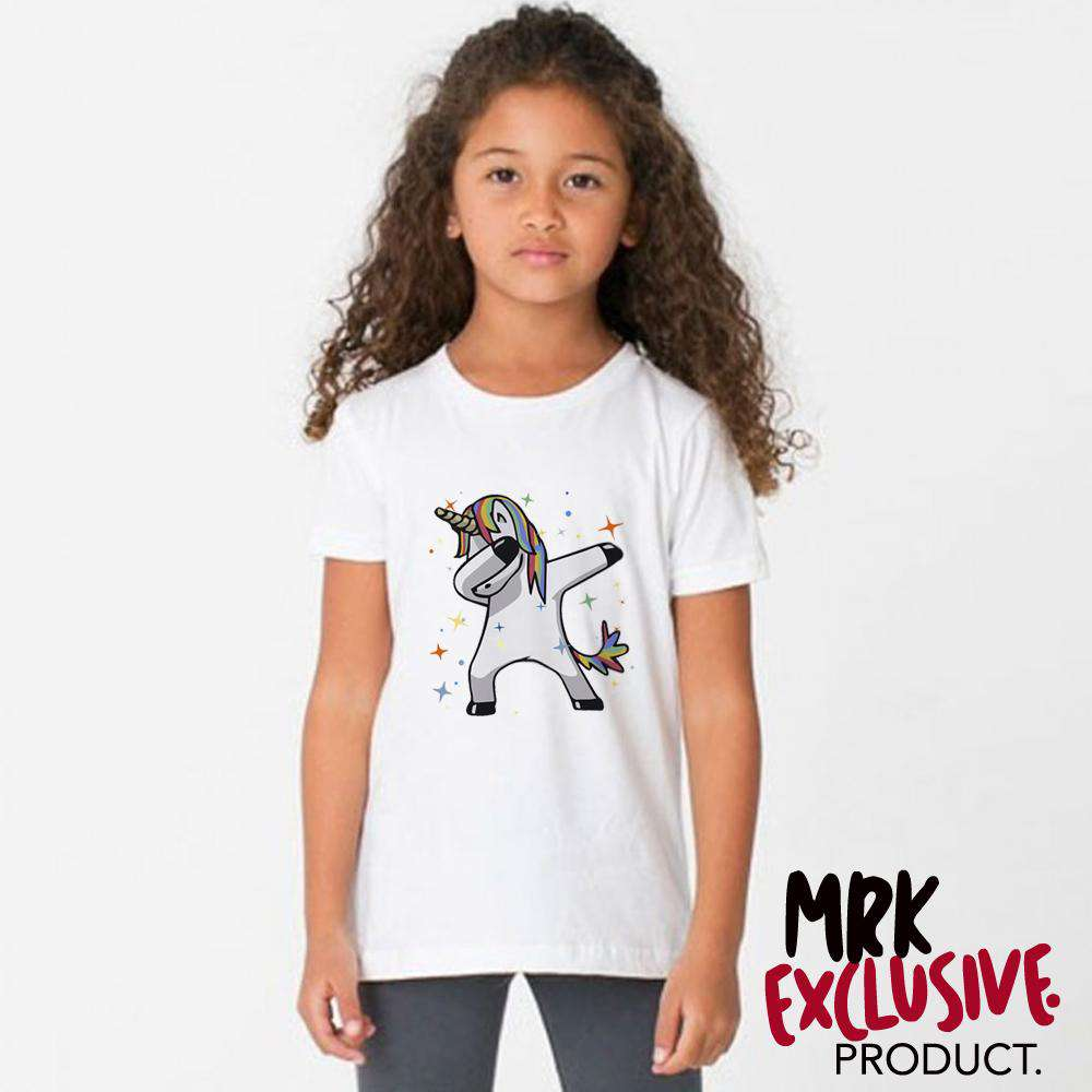 Girls Dabbing Unicorn Tee (1-13 Years) (MRK X)