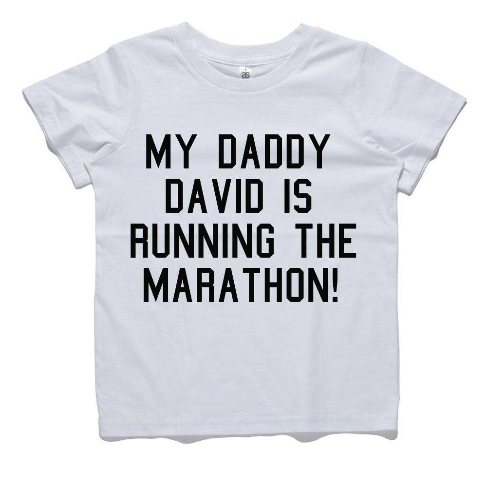 Personalised Daddy Running Marathon Tee (MRK X)