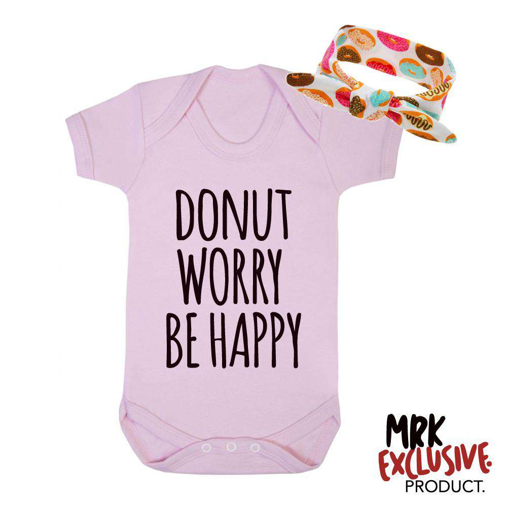 Donut Worry Pink Bodysuit & Donut Hairband Set (MRK X)