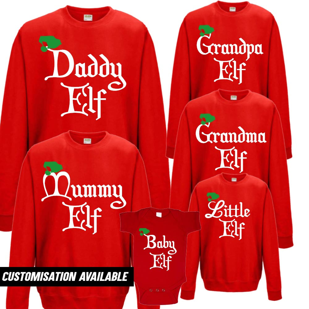 Elf Family Matching Christmas Sweatshirts (MRK X)
