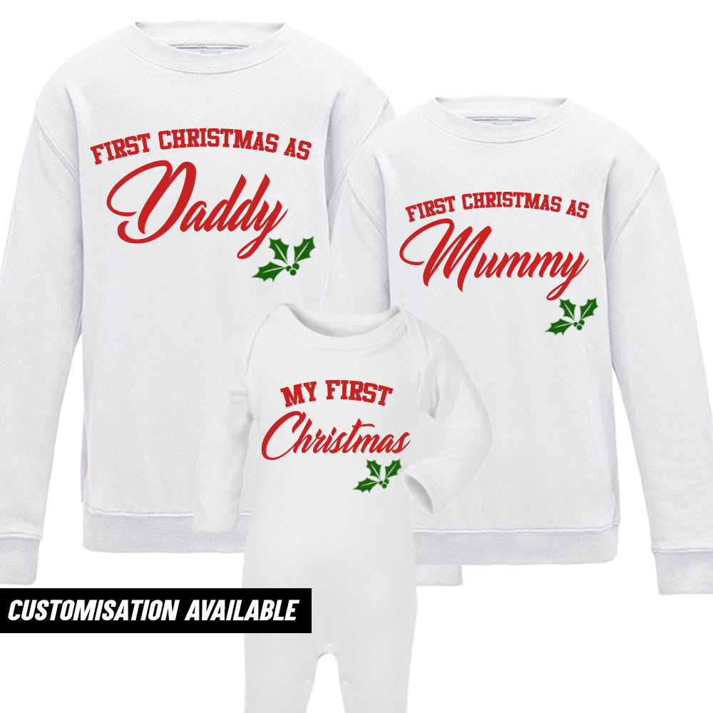 First Family Christmas Sweatshirt & Romper Set White (MRK X)