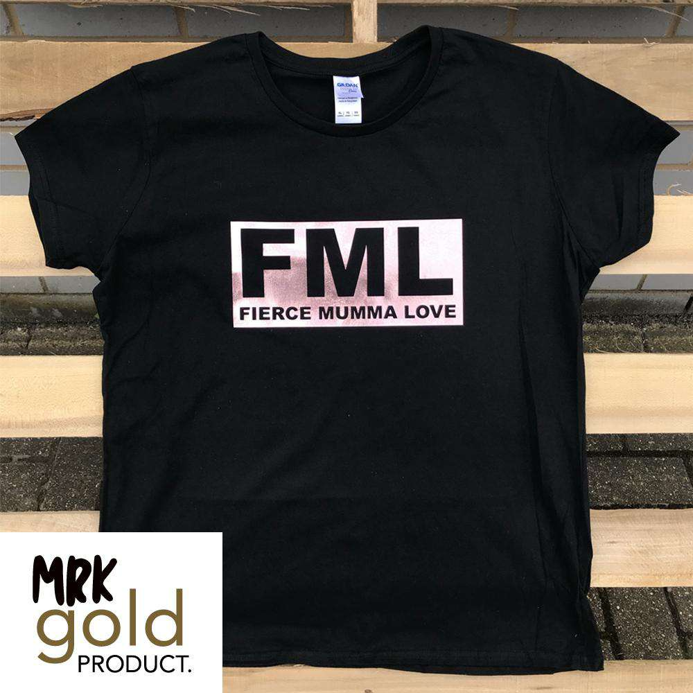 FML- Reverse Black/Rose Gold Tee (MRK X)