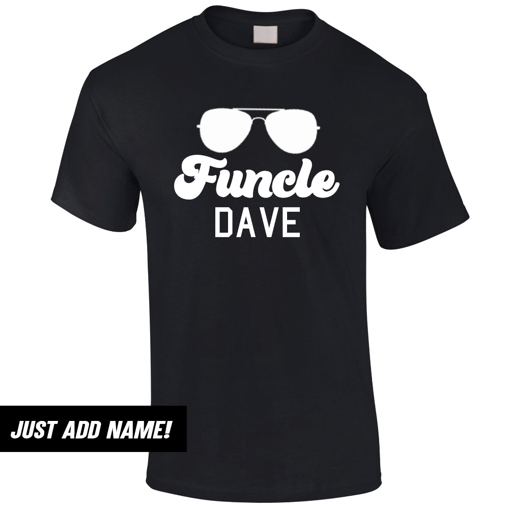 Personalised FUNCLE Sunglasses Uncle Tee (MRK X)