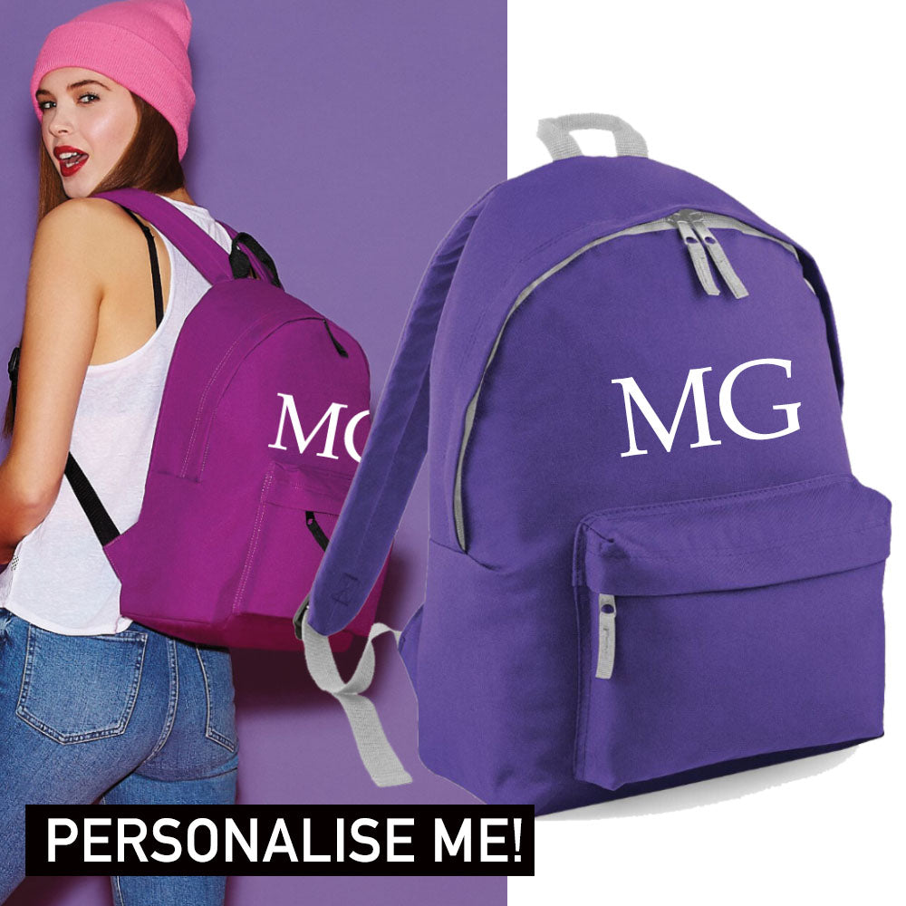 Personalised Initial Varsity Regular Backpack (MRK X)