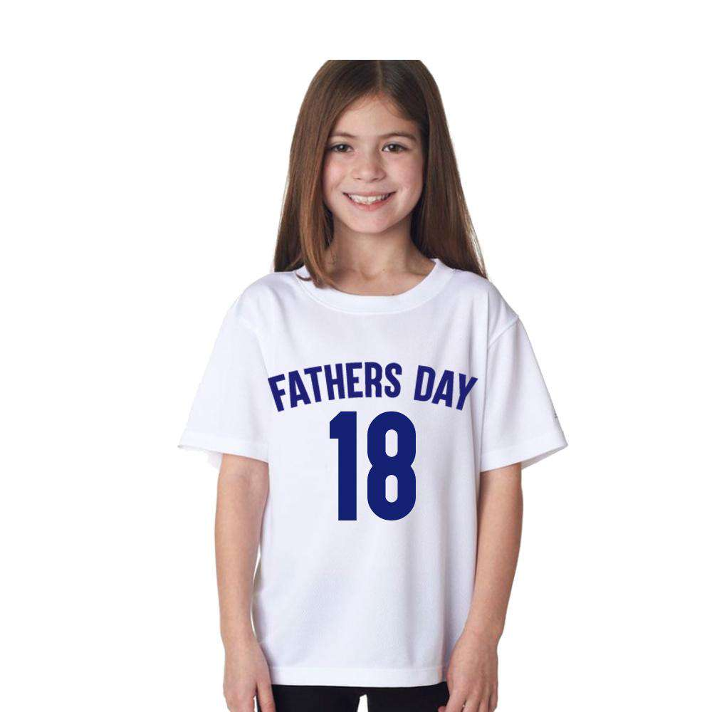 Mens & Kids Fathers Day 2018 Matching White Tees (MRK X)