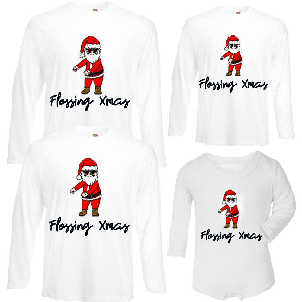 Flossing Xmas Family Matching Tops/Baby Bodysuits (MRK X)