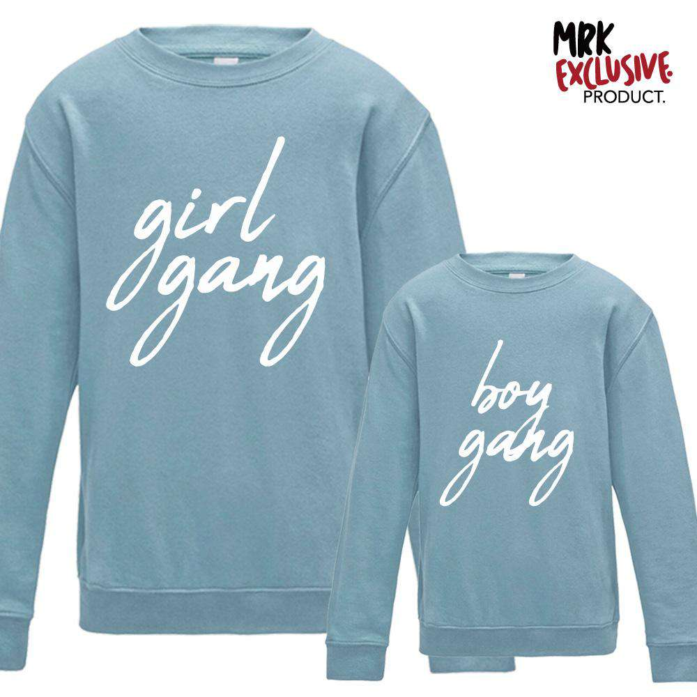 GIRL & BOY GANG Women & Kid Matching Sweaters (MRK X)