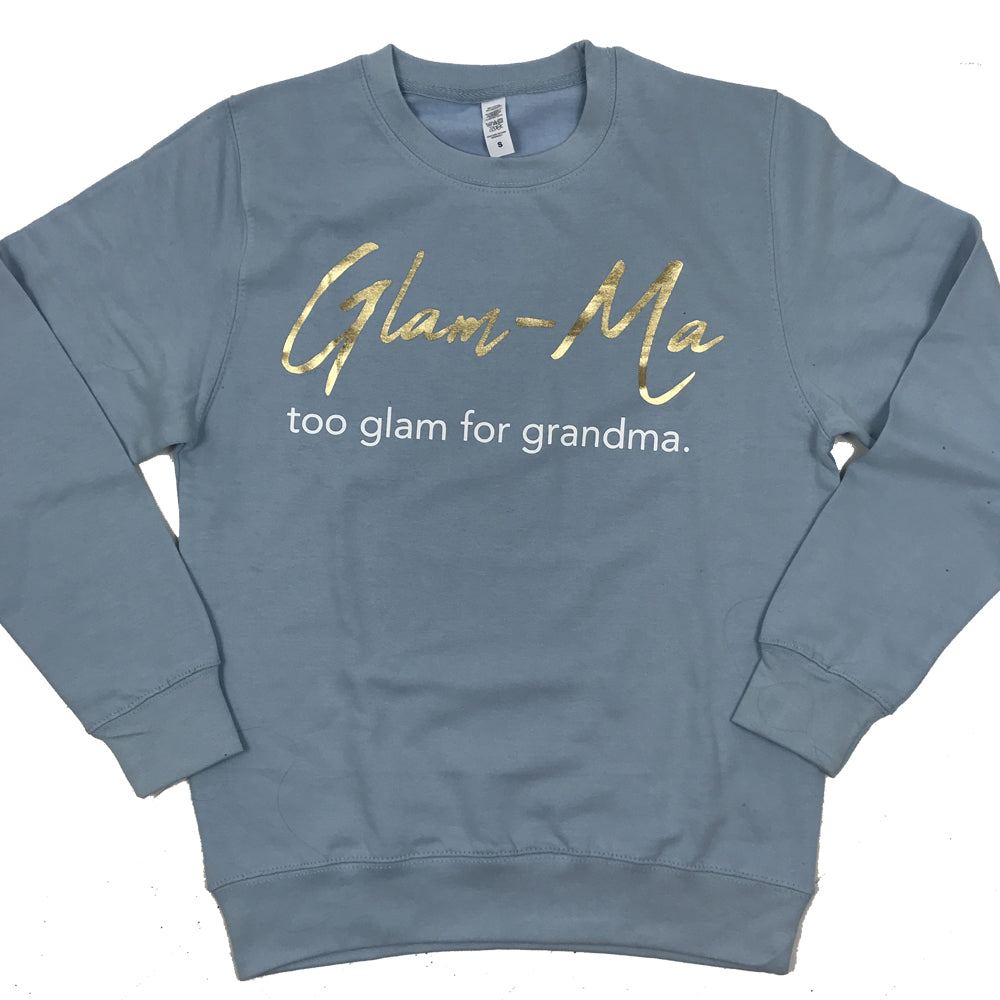 Glam-Ma Grandma Sky Blue Sweater (MRK X)