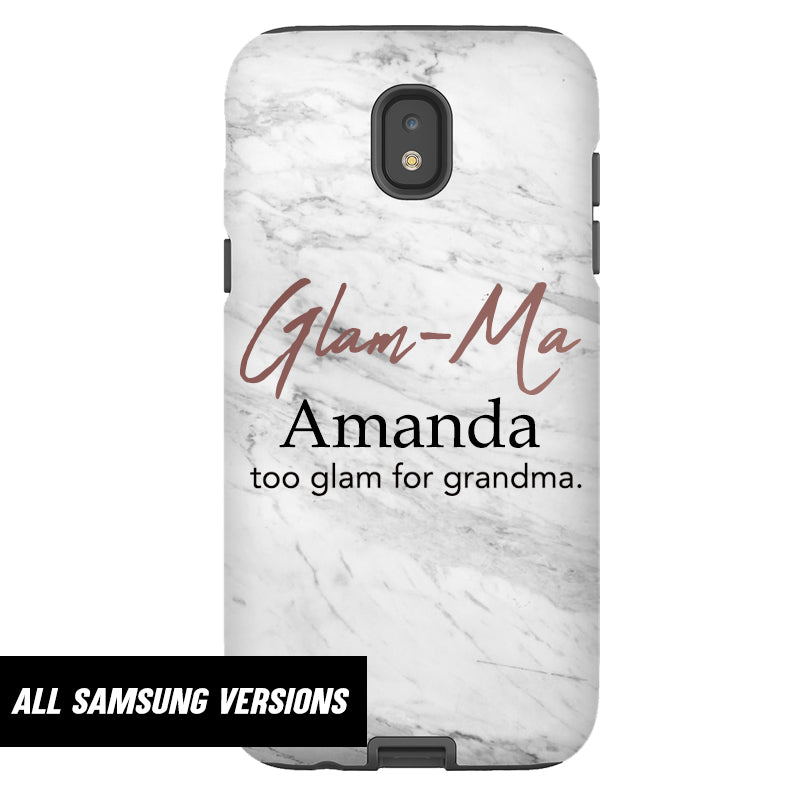 Personalised Glam-Ma Samsung Snap Phone Case (MRK X)