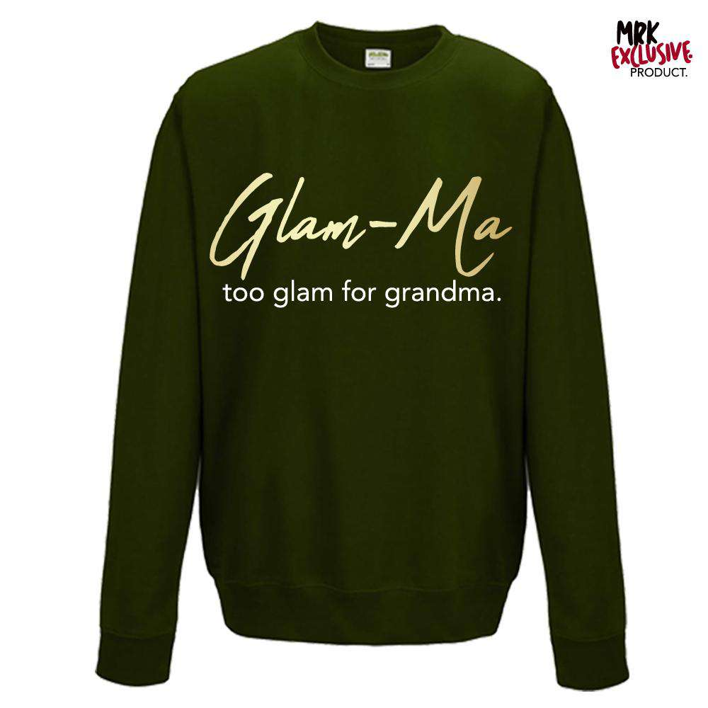 Glam-Ma Grandma Forest Green/Gold Sweater (MRK X)