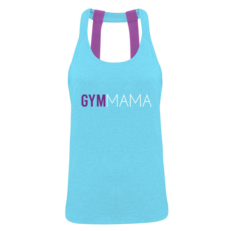 Gym Mama Double Strap Logo Performance Vest (MRK X)
