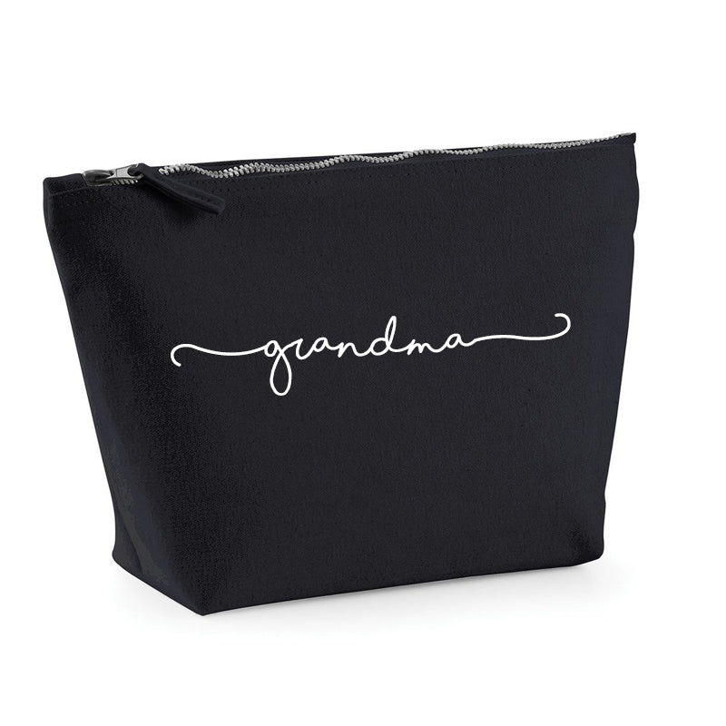 Grandma Retro Script Small Accessory Bag (MRK X)