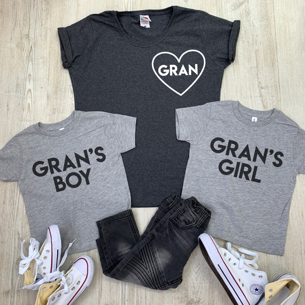 Gran & Gran's Boy & Girl Matching Tees (MRK X)