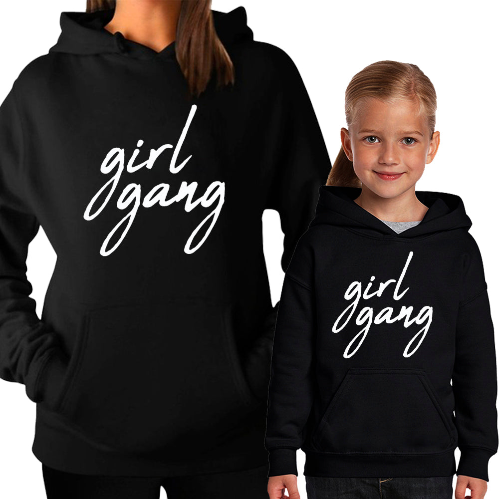 GIRL GANG Mummy & Kid Matching Hoodies (MRK X)