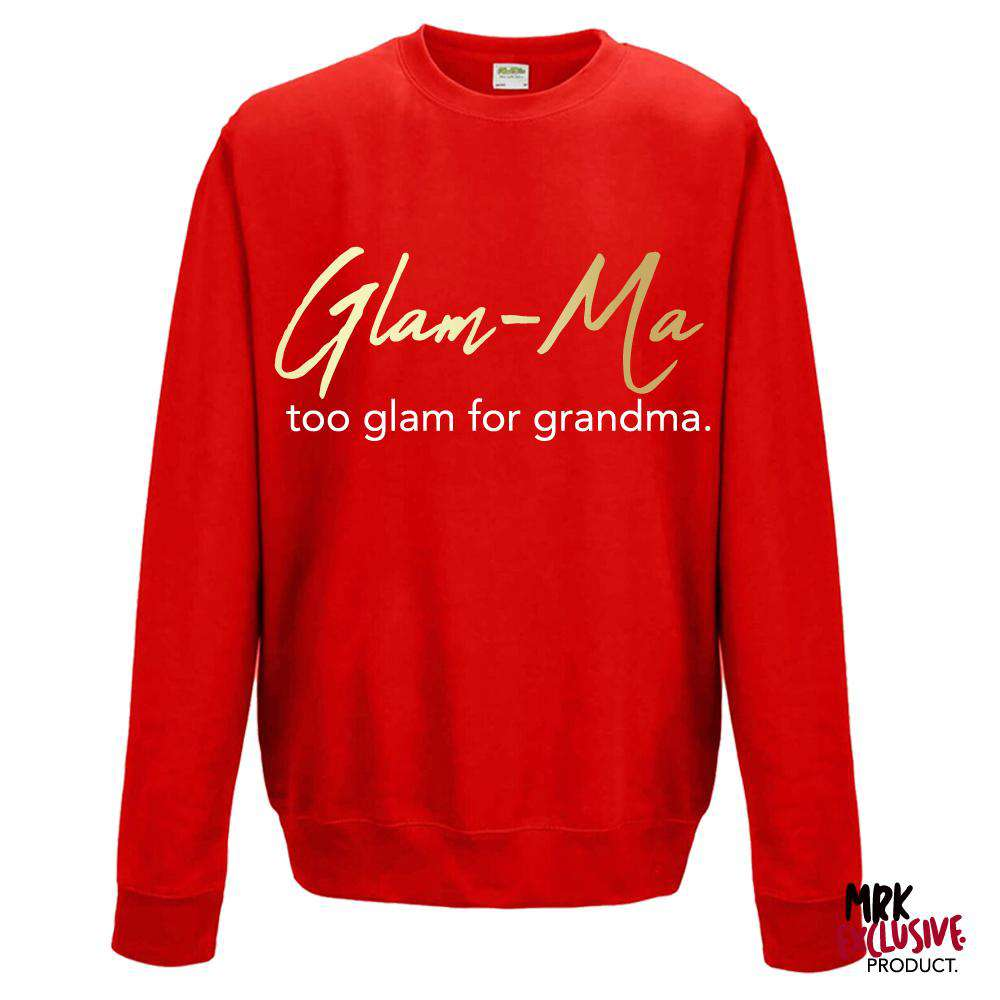 Glam-Ma Grandma Red/Gold Sweater (MRK X)
