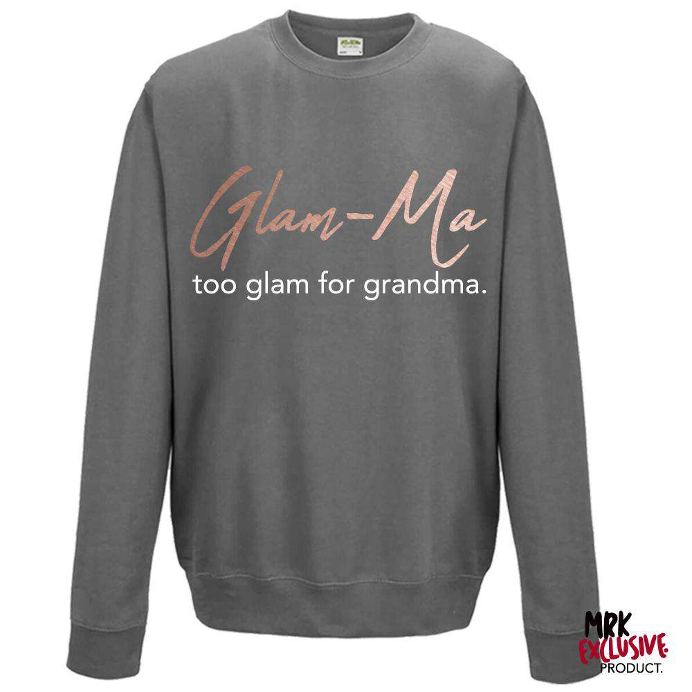 Glam-Ma Grandma Steel Grey/Rose Gold Sweater (MRK X)