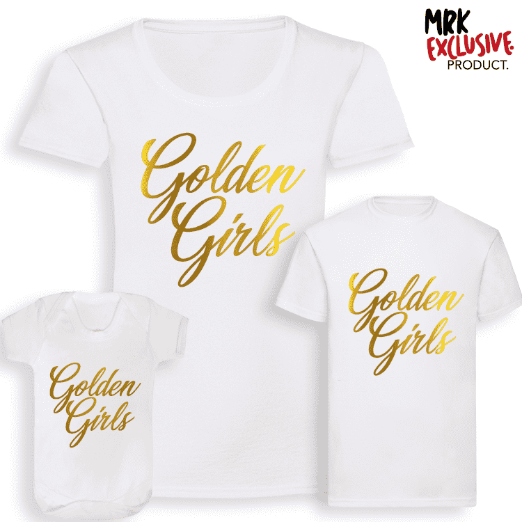 Golden Girls - Matching Tees - White (MRK X)