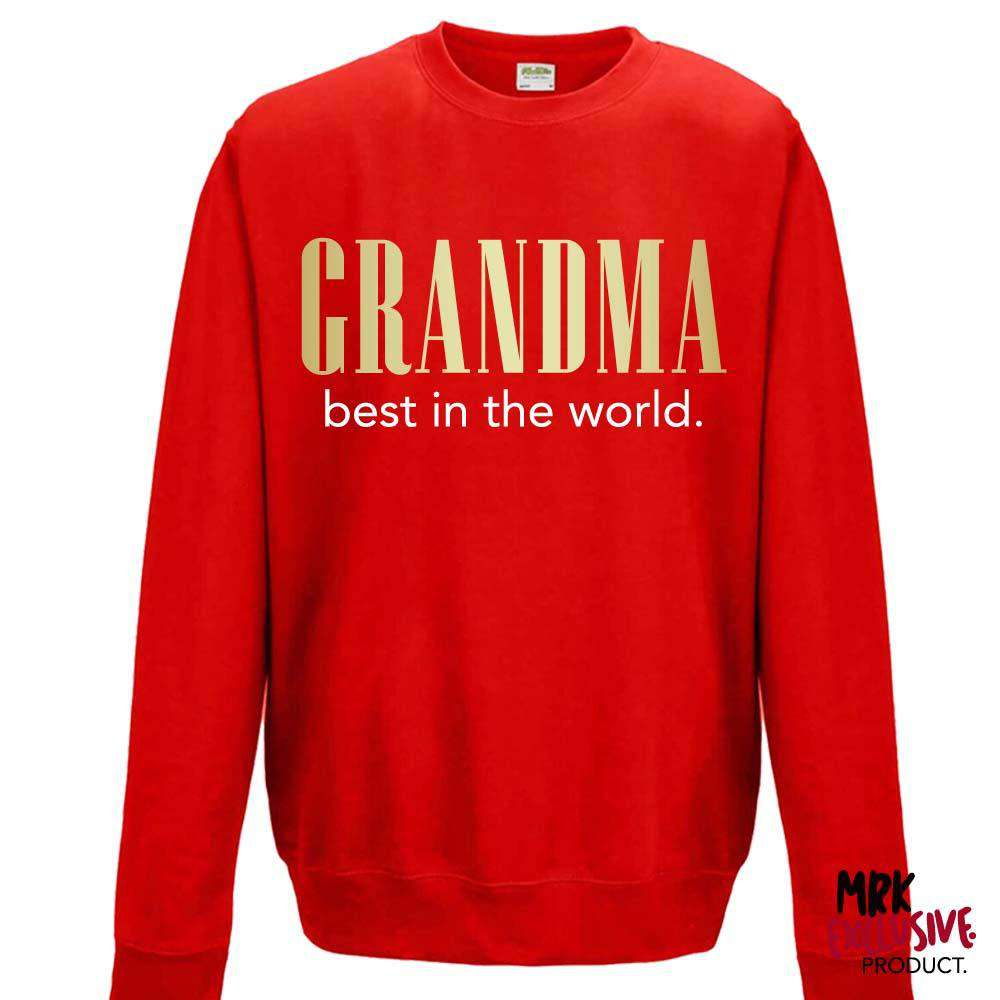 Grandma (Best In The World) Red/Gold Sweater (MRK X)