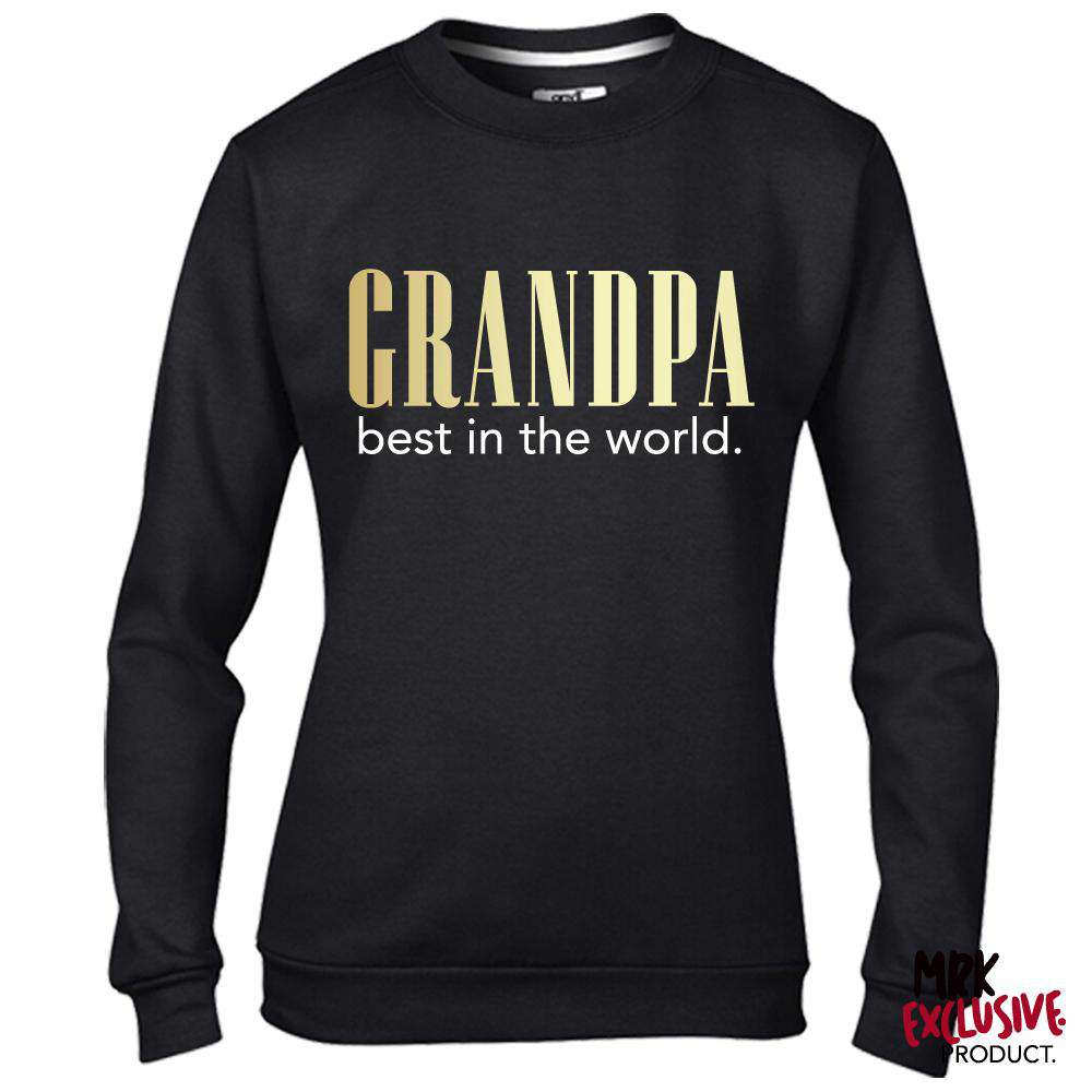 Grandpa Best In The World Black Sweatshirt (MRK X)