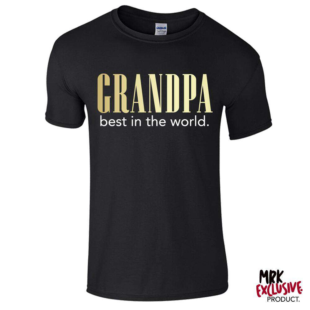 Grandpa Best In The World Black Tee (MRK X)