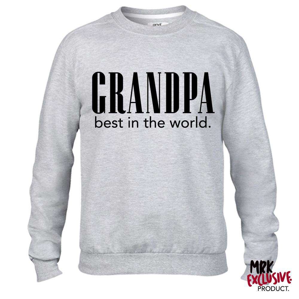 Grandpa Best In The World Light Grey Sweatshirt (MRK X)