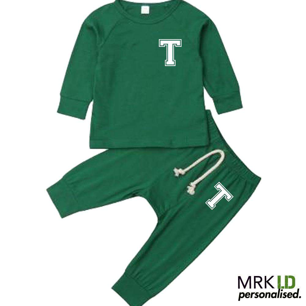 Personalised Langston Initial Infants Tracksuit Set (0-18 Mnths) (MRK X)