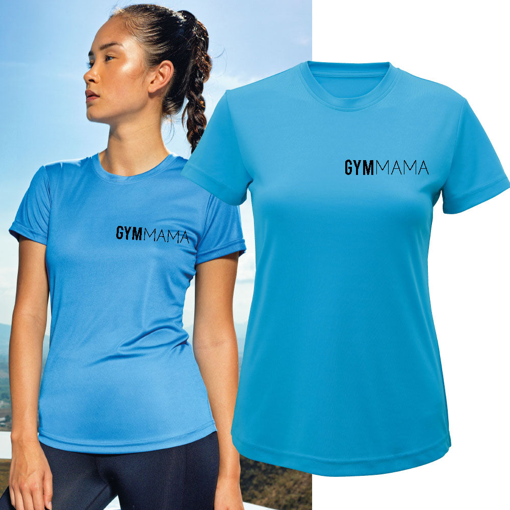 Gym Mama Mini Logo Tr-Dri Performance Tee (MRK X)