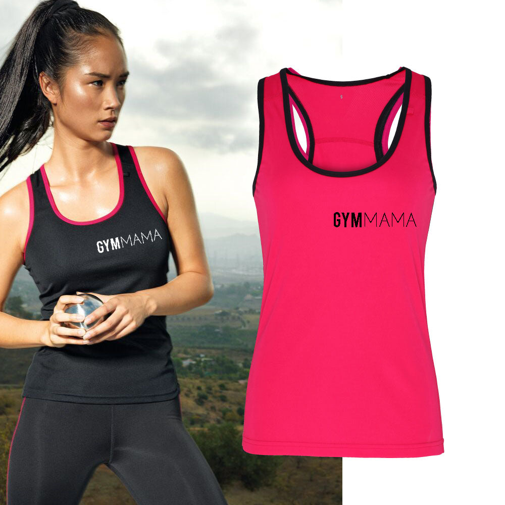Gym Mama Mini Logo Tr-Dri Performance Vest (MRK X)