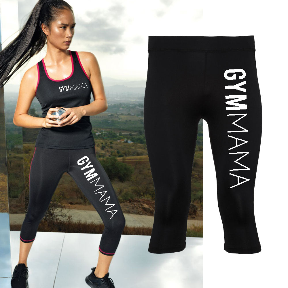 Gym Mama Tr-Dri Capris Leggings (MRK X)