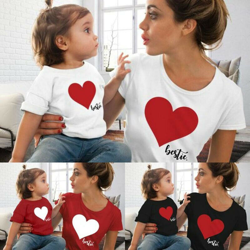 Heart Besties Mum & Kid Matching T-Shirts (MRK X)