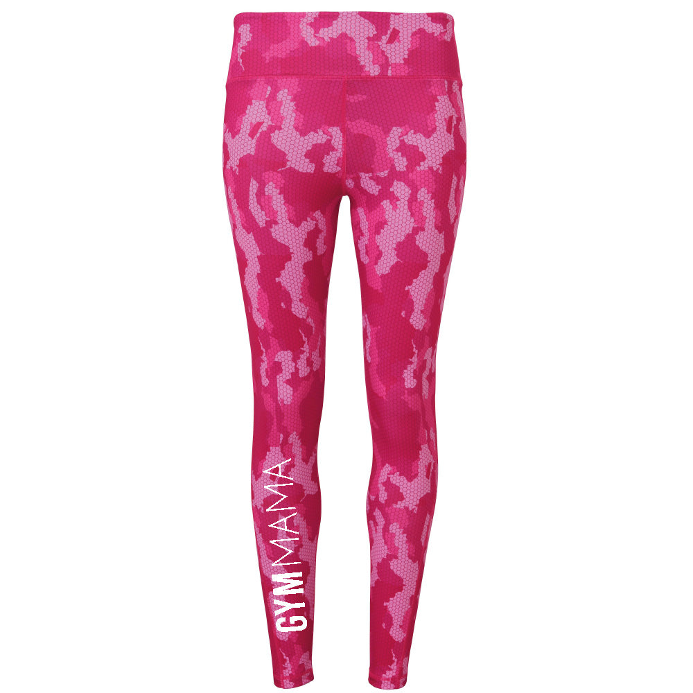 Gym Mama Hexo Camo Performance Leggings (MRK X)