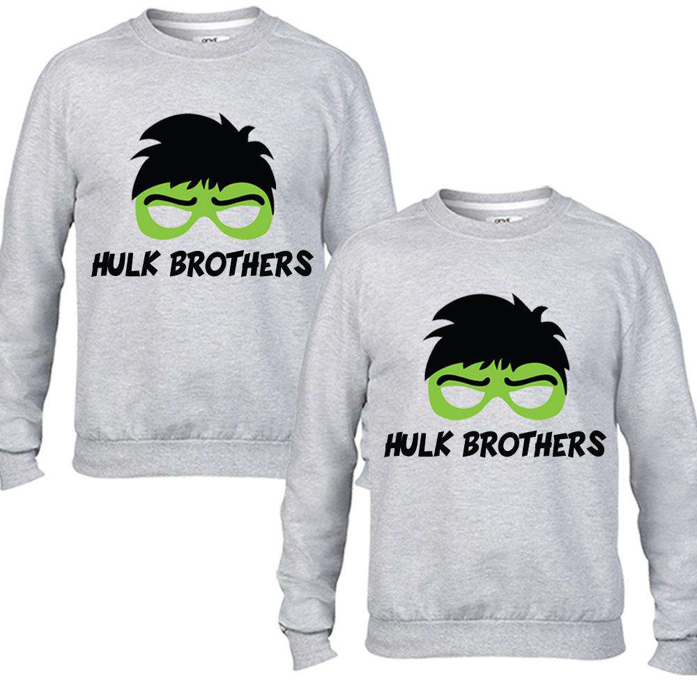 Hulk Brothers Matching Grey Sweaters (MRK X)