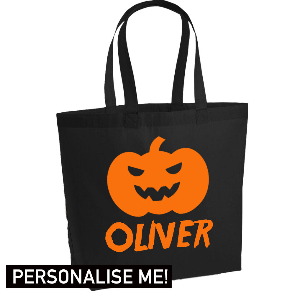 Personalised Halloween Pumpkin Treat Bag (MRK X)